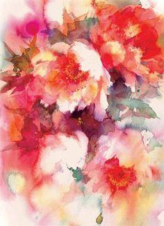 Yuko Nagayamay impressionistic flowers Yuko Nagayamay impressionistic Cambrinelli like flower watercolour paintings Abstract Flowers, Watercolor Flowers, Watercolor Art, Watercolour Paintings, Flower Paintings, Painting Flowers, Blog Art, Painting & Drawing, Flower Art