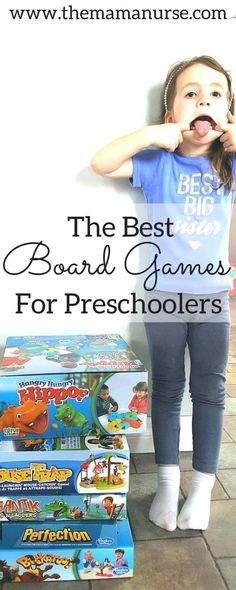 Preschoolers are just getting into board games. Here is a fantastic list of all of the best board games out there to play with your three and four year olds (and beyond!). What a great way to spend some quality time together.http://themamanurse.com/board-games-preschoolers/