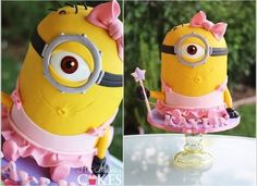 minion girl cake - Google Search