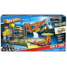 Nate, can find in TJ Maxx for sure Hot Wheels City Tow & Tune Car Shop Play Set