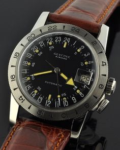 Glycine Airman. If you want to find a first decent watch, but not a Heur, Rolex or Omega. How about this vintage one?  Mos