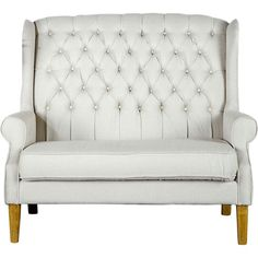 Great for an entry way or an intimate seating for dining area Janna Loveseat