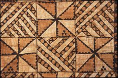 Oceania, Polynesia, Tonga, Tongatapu Island  Barkcloth mat  About 1987  Paper, mulberry bark, natural pigments  Gift of the Estate of Celia Ehrlich