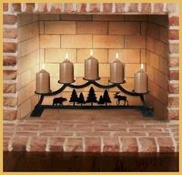 #Fireplace #Candle #Holders (Stands) durable wrought iron with a protective, baked on, black coating.