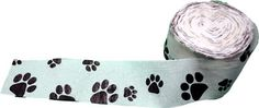 Dog Paw Streamer - black and white - decorate your dog birthday party!