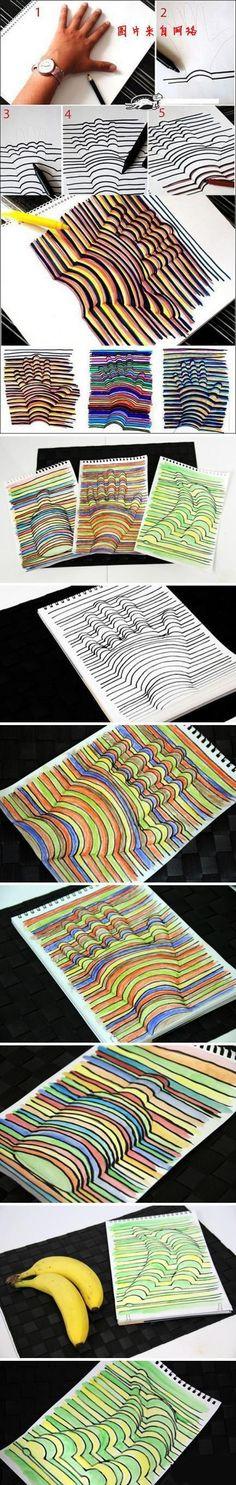 3 D hand prints