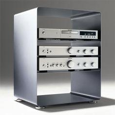 Petit meuble tv vidéo hi-fi style industriel, RW600 Muller