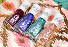 New Sally Hansen Insta-Dri Matte Nail Polish - The Feminine Files Matte Nail Polish, Sally Hansen, Silver Glitter, Swatch, The Cure, Nail Designs, About Me Blog, Feminine, Skin Care