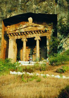Lycian Rock Tomb. Fethiye, Turkey