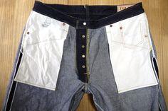 Tough Elite raw denim selvegde jeans inside