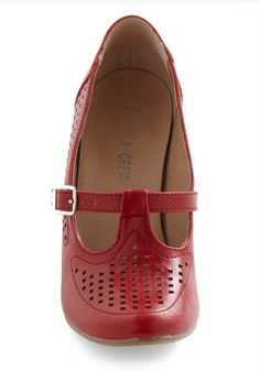 Back to Square Fun Heel in Red