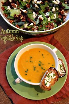 YUMMY. Made this with some changes - lots of butternut squash (prechopped from Costco). Autumn Vegetable Soup - so easy for a fall dinner or lunch.  Weight Watchers Points and nutritional info. included.  Easily gluten free too! I have never seen a recipe like this. It sounds delicious. #gluten #free #recipes