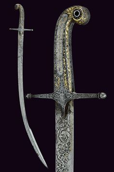 Presentation Sabre Gift of General C. Tcheffkine Dated: Century Place of Origin: Russia Measurements: overall length 98 cm Swords And Daggers, Knives And Swords, Dagger Knife, Steel Art, Arm Armor, Islamic World, Medieval Armor, Tactical Knives, Damascus Steel