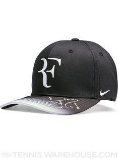 22395290faf Roger Federer Autographed Hat Black White Fade