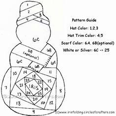 free snowman printable pattern