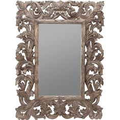 Beautifully Carved Frame with Mirror.