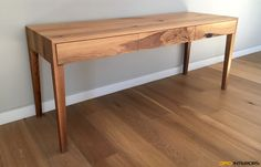 Solid French oak dressing table / couch server with continuous grain across drawers cut from one plank. Blum undermount soft close with touch control. French Oak, St Francis, Dressing Table, Plank, Entryway Tables, Cape, Drawers, Couch, Interior