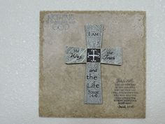 """Cross on 8"""" X 8"""" Natural Stone or Marble Tile"""