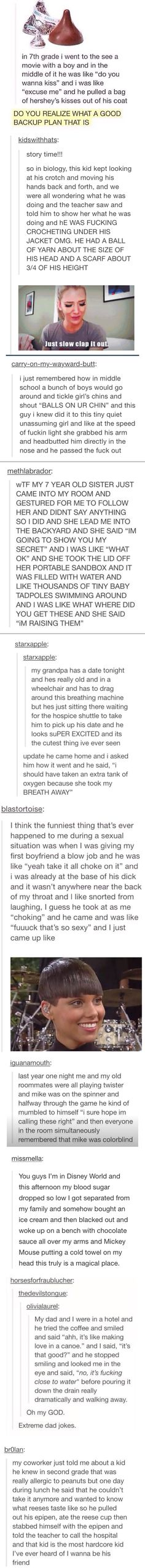 Tumblr: backup plans, extracurricular activities, cuteness, dating, I don't even know, magic, hardcore