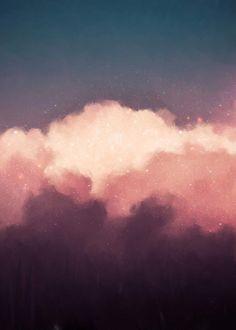 """""""Intrépide No. 9"""" Cloud Painting"""