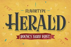 Flavortype Present : --- Herald Typeface is an geometrically designed serif with bouncy baseline. Characteristic of this fonts will act to create an ambience of fun. No matter how is your Halloween Fonts, Halloween Design, Halloween Season, Spooky Font, Font Packs, Animal Doodles, Modern Fonts, Premium Fonts, New Fonts
