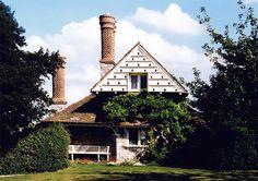 Dovecote gable end on Vine Cottage, Blaise Hamlet, by John Nash John Nash, Natural Architecture, Small Cottages, Dormer Windows, Victorian Cottage, Castle House, Thatched Roof, Modern City, Rose Cottage