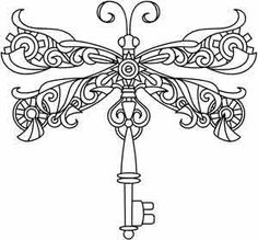 Steampunk Dragonfly | Urban Threads: Unique and Awesome Embroidery Designs