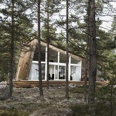 gorgeous wooden cabin in sweden