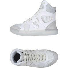 Mcq Puma Sneakers ($88) ❤ liked on Polyvore featuring shoes, sneakers, white, white sneakers, rubber sole shoes, puma trainers, puma footwear and round toe flat shoes
