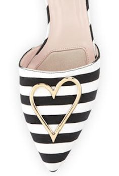 Love these stripes with gold heart flats
