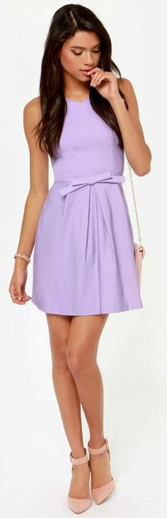 Lavender chain dress | Fashionista | Pinterest | Sweet, Chic and ...