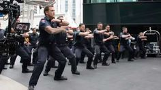 2015 Firefighter Memorial stair Climb ~ NZFS preform a powerful haka for the firefighters about to climb the skytower