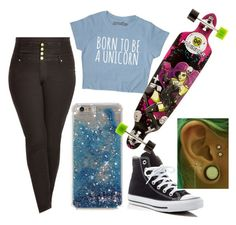 """""""wanna skate"""" by justmekissy on Polyvore featuring City Chic and Converse"""