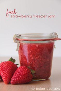 the baker upstairs: fresh strawberry freezer jam