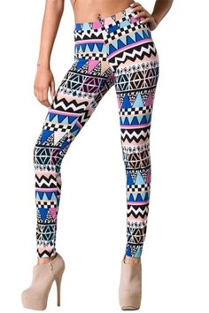 Tribal Patterned Leggings $28 at www.repeatpossessions.com