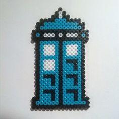 Tardis - Doctor Who hama beads  by freakbeads