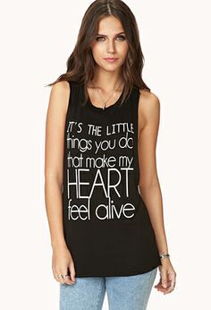Crazy Hearts Knotted Muscle Tee | FOREVER 21 - 2000091699    Exactly how I feel every day ;)