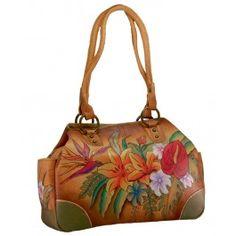Geanta Izadora din piele naturala, Anuschka Designer Leather Handbags, Medium Tote, Designing Women, Shoulder Bag, Womens Fashion, 8 Martie, Hand Painted, Unique, Handbags