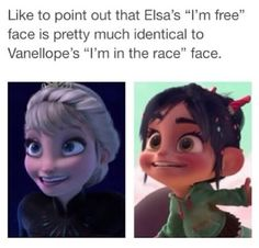 I have this family tree thing that I made on paper, but, um, in this one Vanellope is one of Elsa's grandchildren. :}