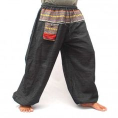 Cotton mix - black harempants pants