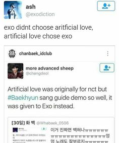 "exo artificial love  ^^^ Bless Byun Baekhyun!  I now relish that ""now you wanna play me"" part on a whole new level^.^"