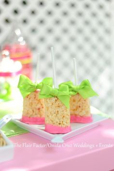 Fête Fanatic: Rice Krispy Pops (rice krispy treats recipe baby shower)