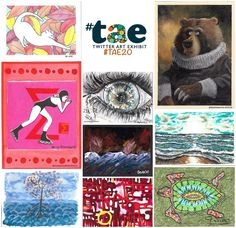 "99 gilla-markeringar, 5 kommentarer - Twitter Art Exhibit (@twitterartexhibit) på Instagram: ""Lovely to see cards starting to come in ready for the fundraiser for #TAE20! Thank you everyone!…"""