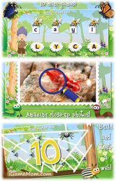 Fun Bug App - kids learn about bugs, letters, numbers, words - guided by a fun-loving grandma #kidsapps