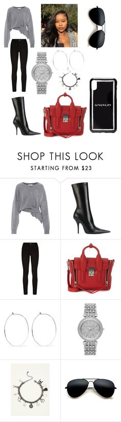 """""""Untitled #441"""" by askariwilson on Polyvore featuring Balenciaga, Paige Denim, 3.1 Phillip Lim, Catbird, Michael Kors, Torrid and Givenchy"""