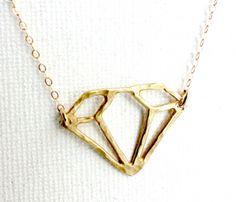 Diamond Cutout Necklace Uncovet