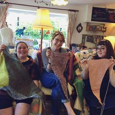 #yarnshopday was so wonderful. Thank you to everyone that came and sent love. You make this magical Alterknit Universe a reality.  heres @k8viv @amyflorence and me @kimsmithhappy with our #verticesunite shawl wips! From our shop account: @AUshopUK follow us for more fun peeks into our shop near Bristol UK. https://ift.tt/1SPuuxi We're the wool shop in Cleeve with the big sheep mural on the A370.