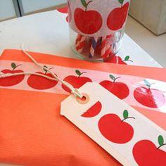 brede decoratieve tape apple