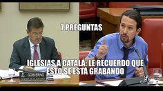 Iglesias le hace 7 preguntas a Catalá y le recuerda que la conversación ...