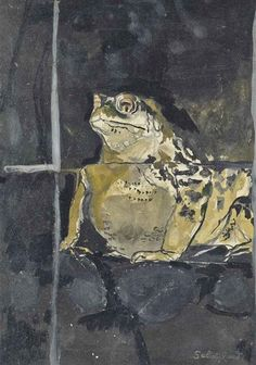 Graham Sutherland - Toad (Study), 1958, pencil, ink, watercolour and gouache
